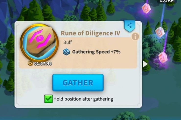 Gathering Rune in Rise of Kingdoms for boosting gathering speed