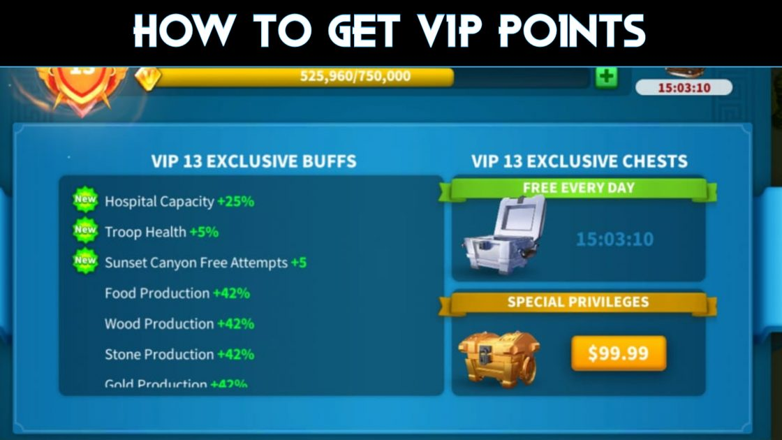 VIP points and VIP levels in ROK Guide