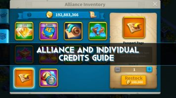 How to get alliance and individual credits in Rise of Kingdoms