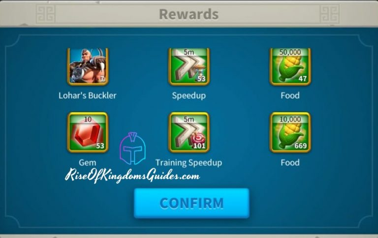 Lohar rewards Rise of kingdoms 1