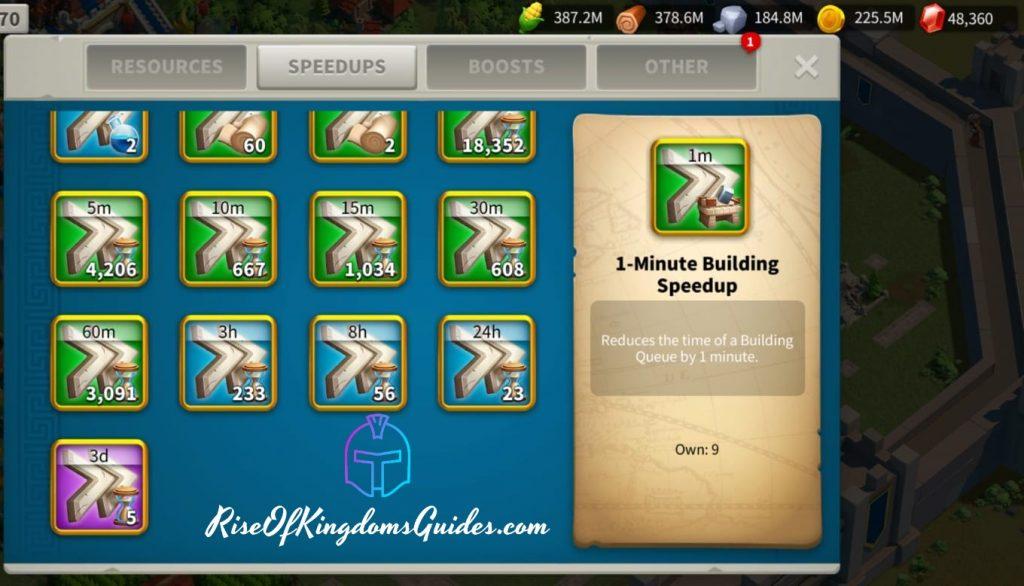 speedups rise of kingdoms