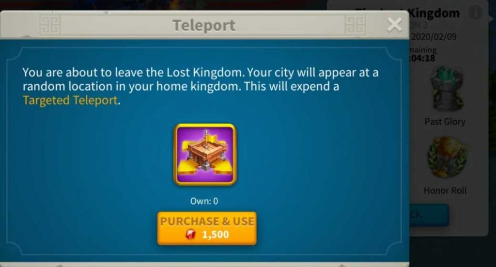 Rise Of Kingdoms the lost kingdom teleport , how to enter and leave lost kingdom