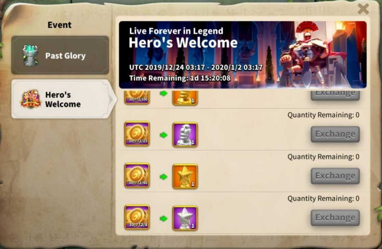 Rise Of Kingdoms Past Glory event in lost kingdom