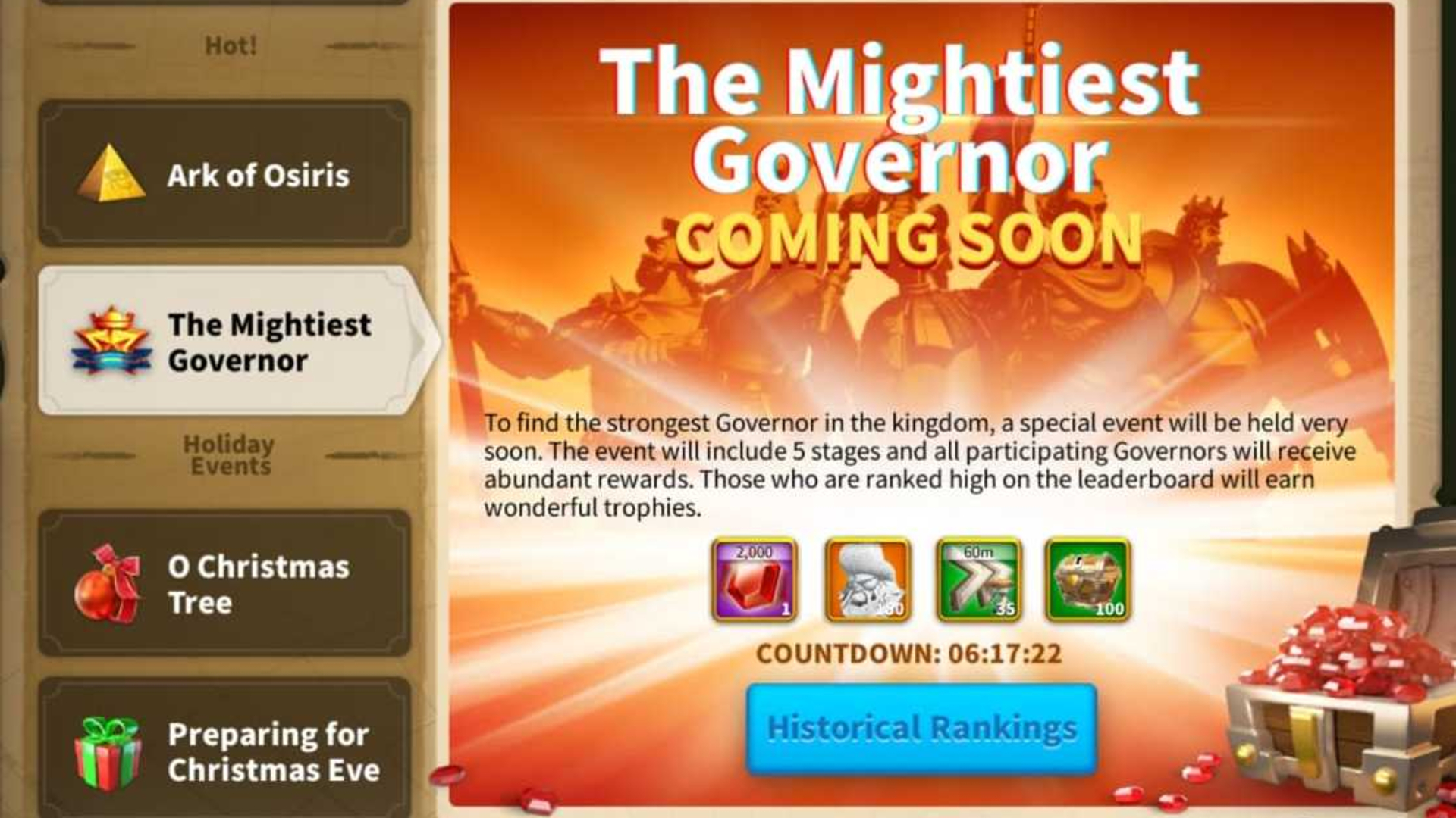 Rise Of Kingdoms The Mightiest Governor Event Guide