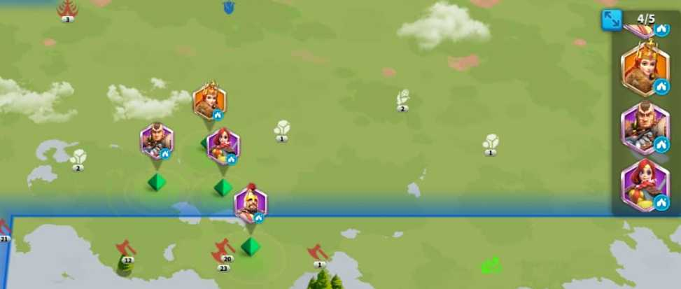 Rise Of Kingdoms Farming Barbarians with less attack points