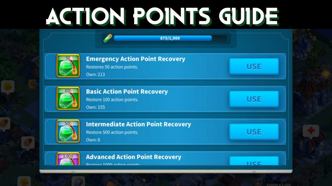 How to get and spend Action Points Guide