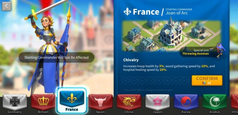 Rise Of Kingdoms Best civilization for new players