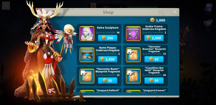 Rise Of Kingdoms Ceroli Crisis Shop