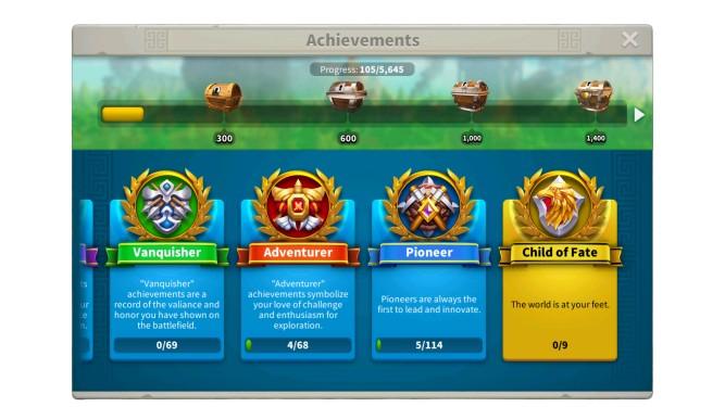 Rise Of Kingdoms Personal Achievements