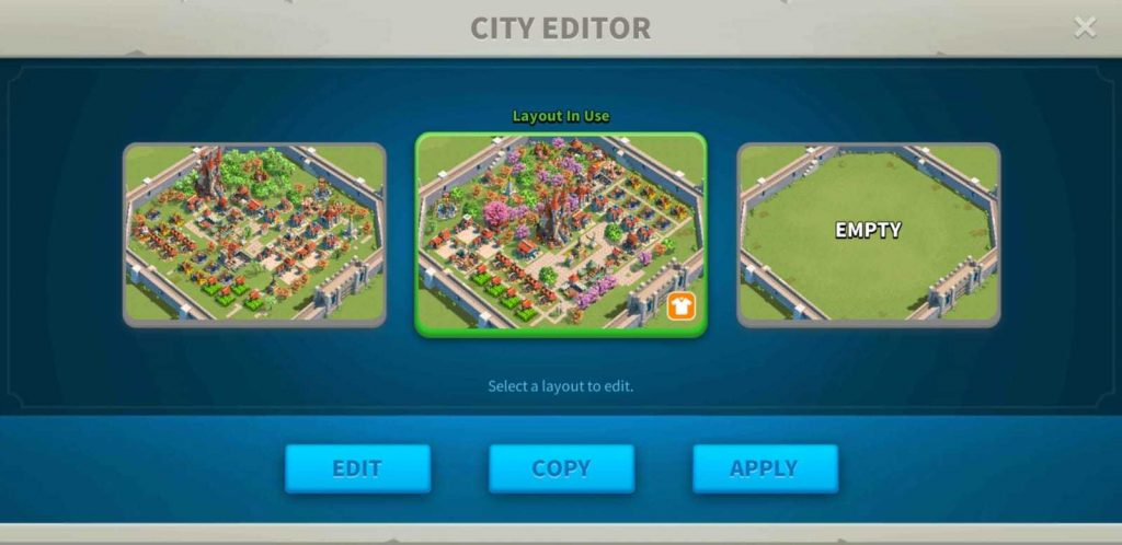 Rise of Kingdoms City Layout Editor