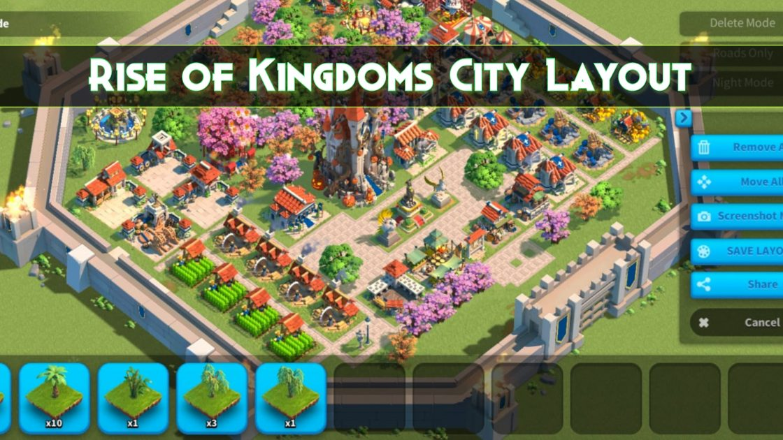 Rise of Kingdoms City Layout guide