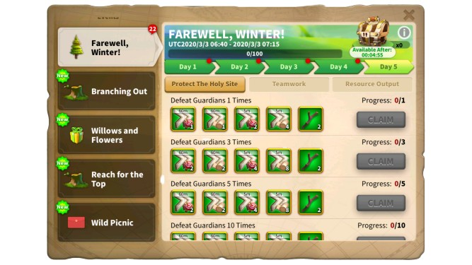 Rise of Kingdoms Farewell, Winter Event