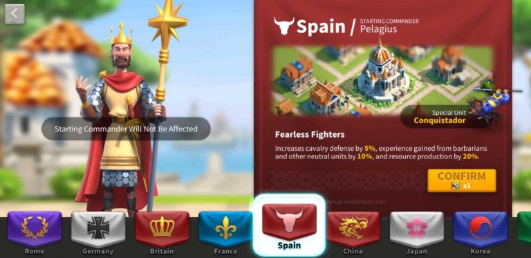Rise Of Kingdoms Spain