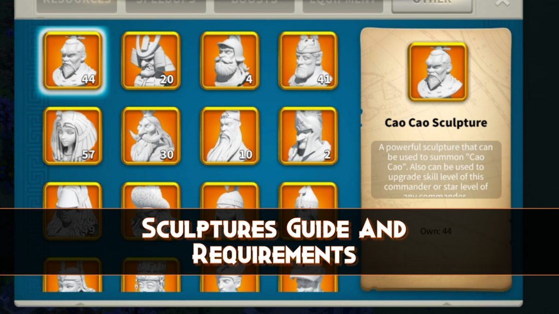 Rise of Kingdoms Sculptures Guide And Requirements