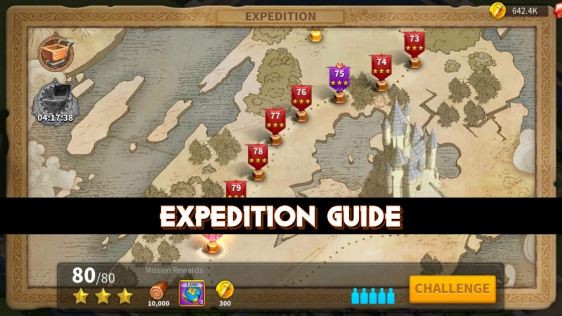 Expedition Guide: Complete higher levels In Expedition