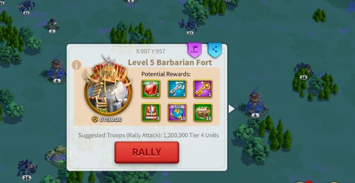 Rise Of Kingdoms Barbarian Forts