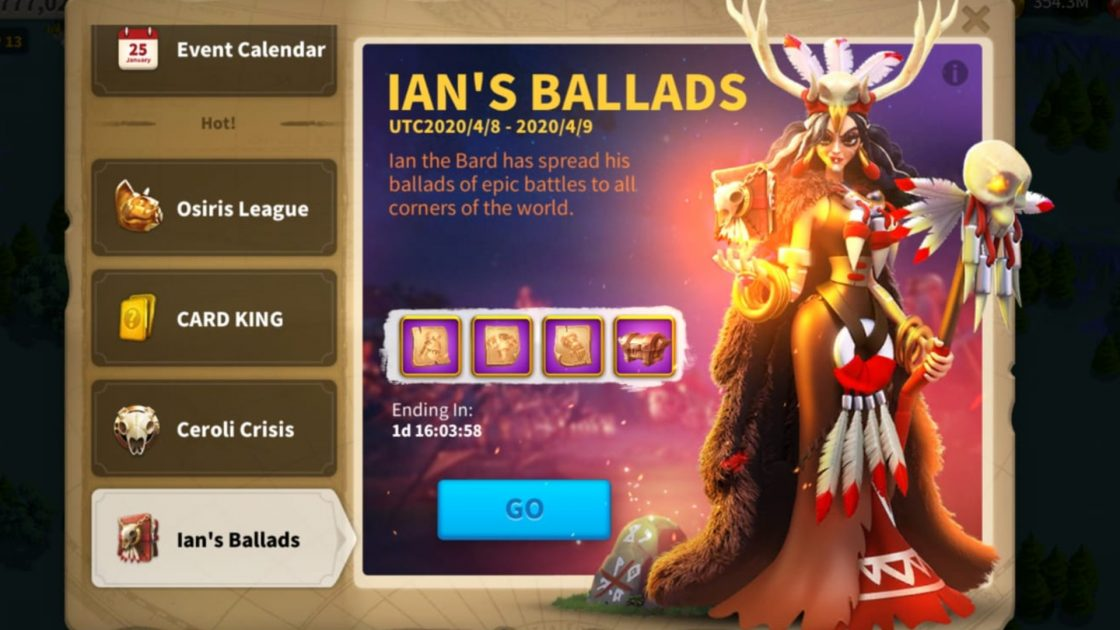 Rise Of Kingdoms Ian's Ballads Guide