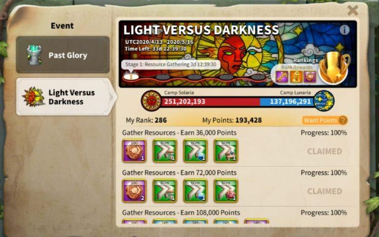 Rise Of Kingdoms Light Versus Darkness