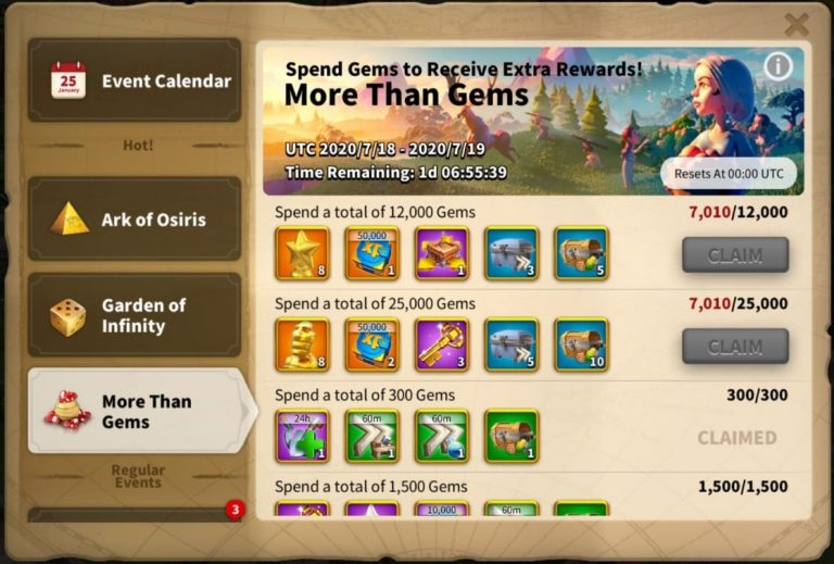 Rise Of Kingdoms More than gems event (1)
