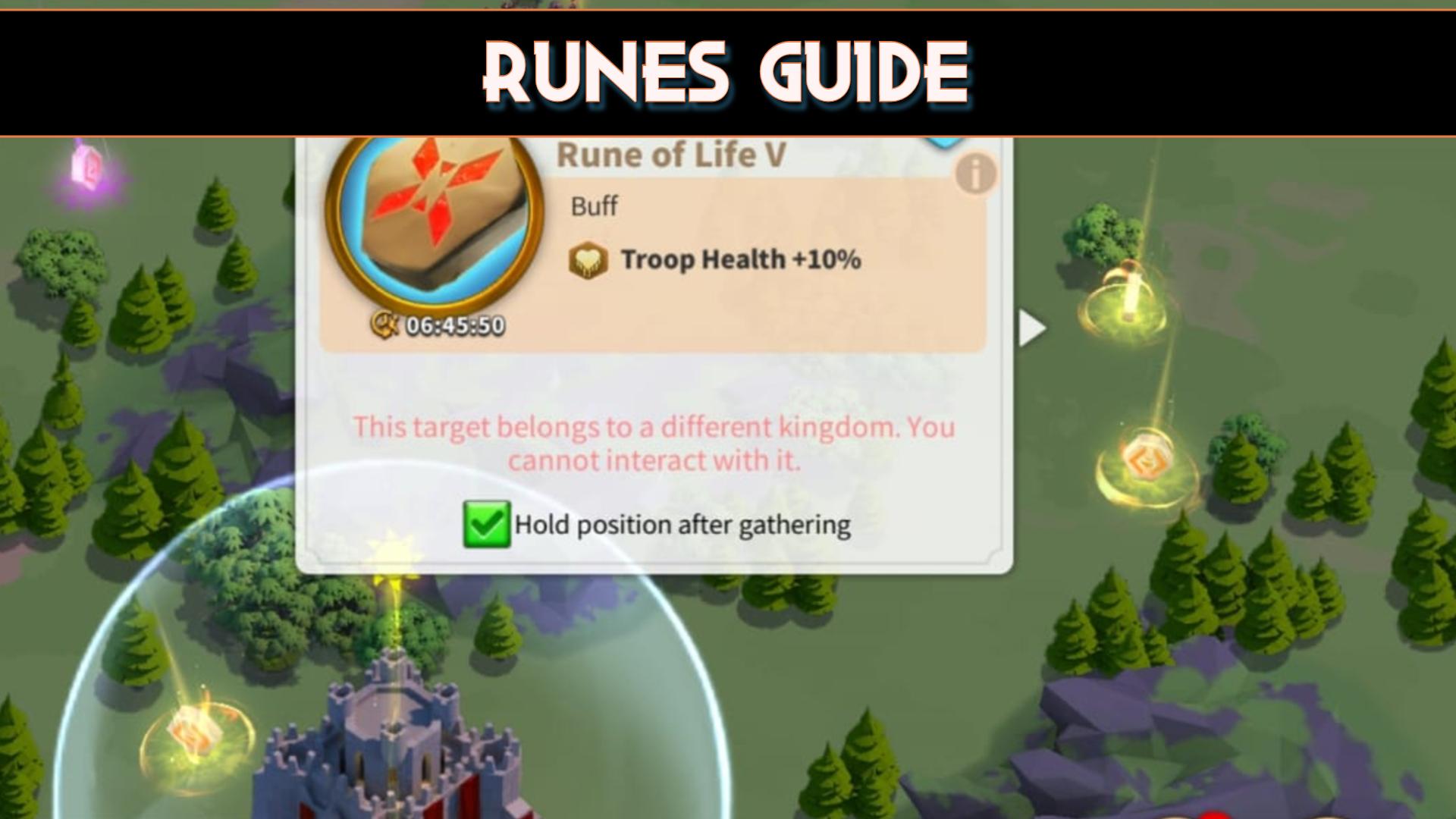 Rise Of Kingdoms Runes Guide