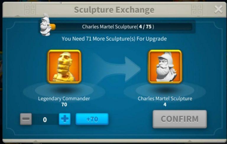 Rise Of Kingdoms Sculptures exchange