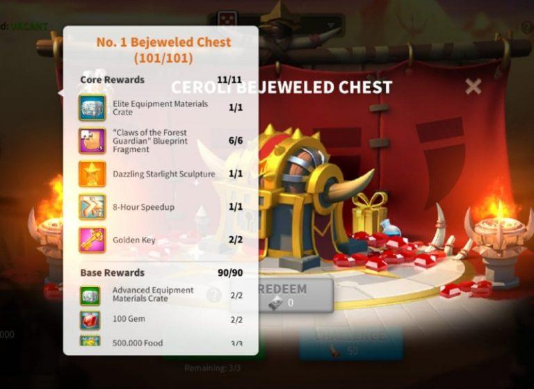 Ceroli Assault Rise Of Kingdoms event rewards