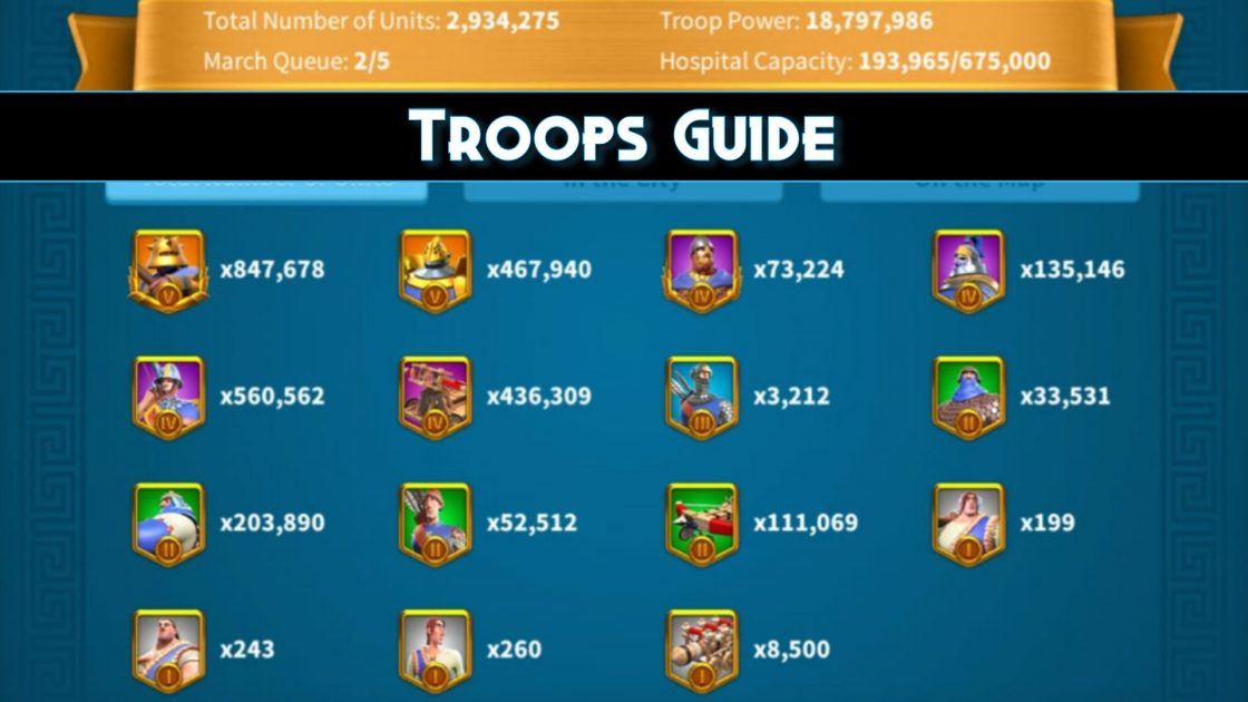Rise Of Kingdoms Troops Guide and Training troops