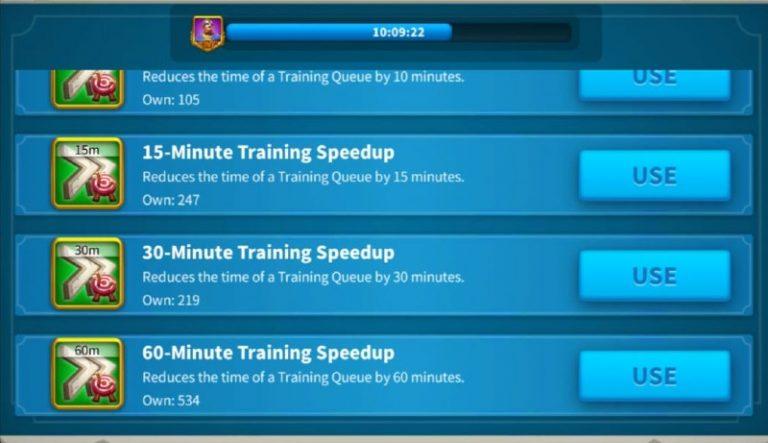 Rise Of Kingdoms Training Speedups guide