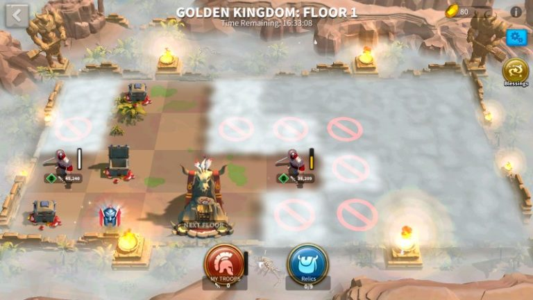 Rise of kingdoms Golden Kingdom Floor 1