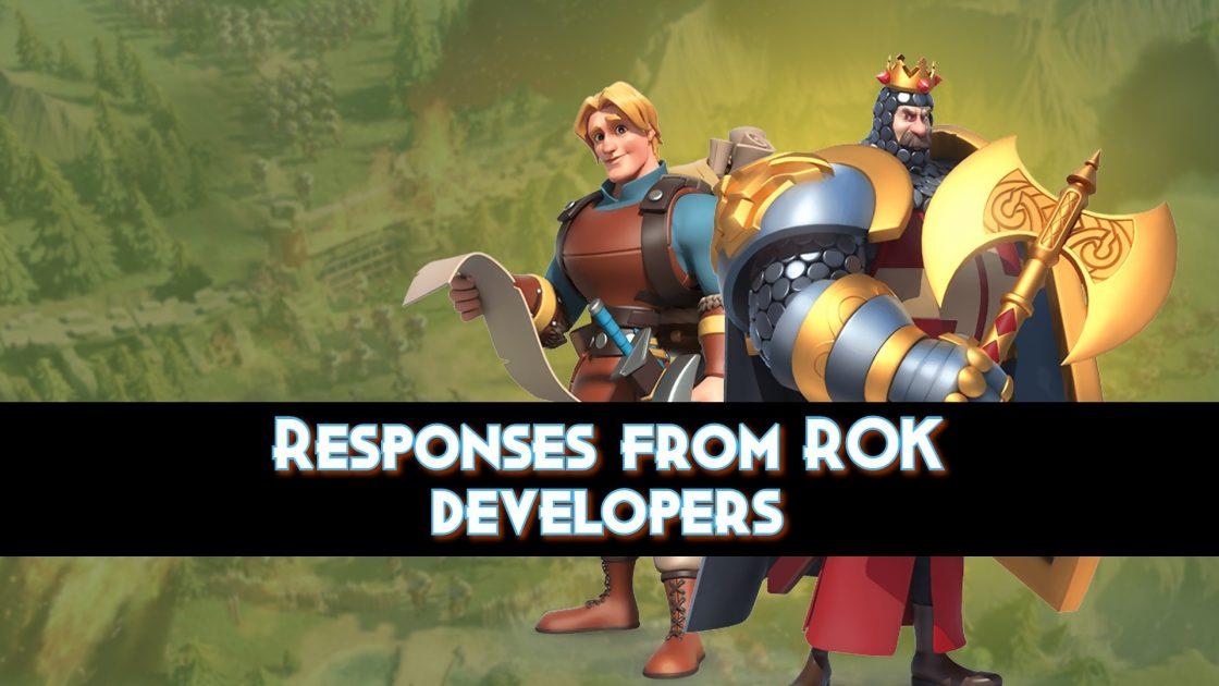 Responses from ROK developers