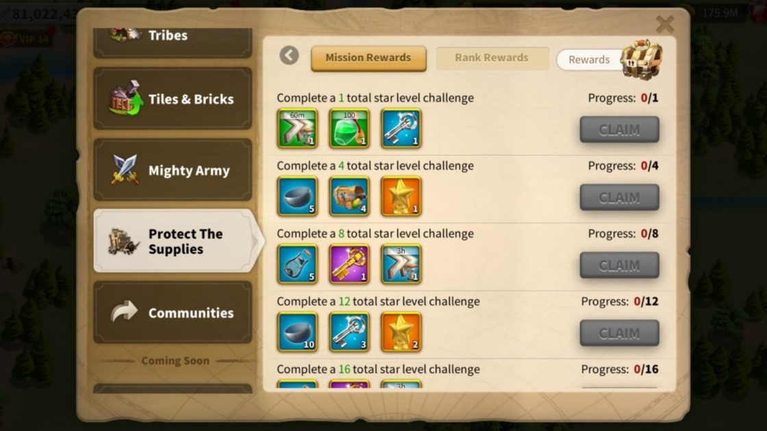 Rise Of Kingdoms Protect The Supplies event