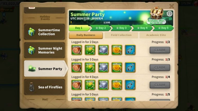 Rise of Kingdoms Summer Party