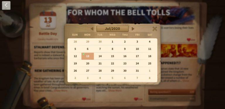 Kingdom Newspaper calendar
