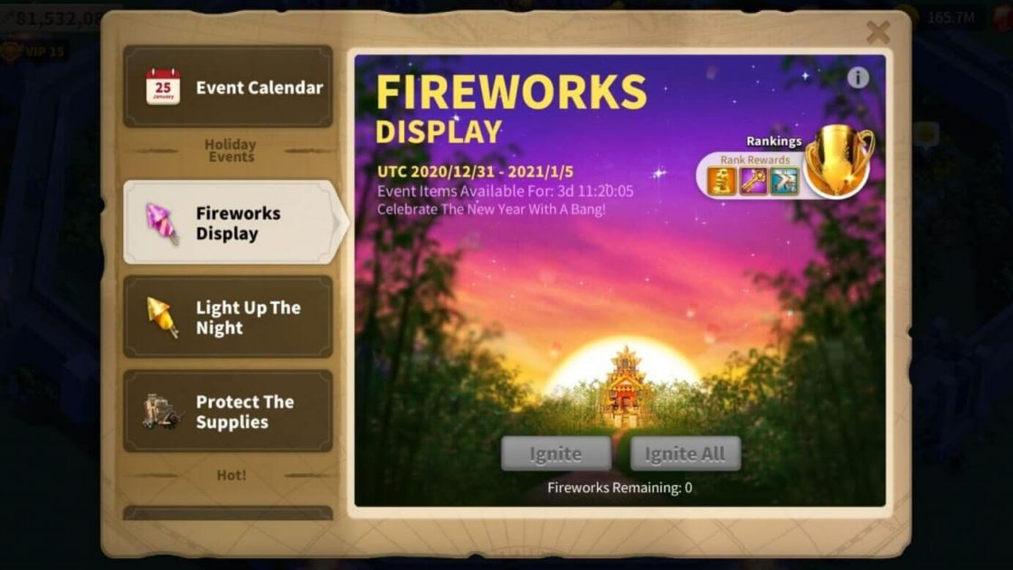 Fireworks event Guide in ROK