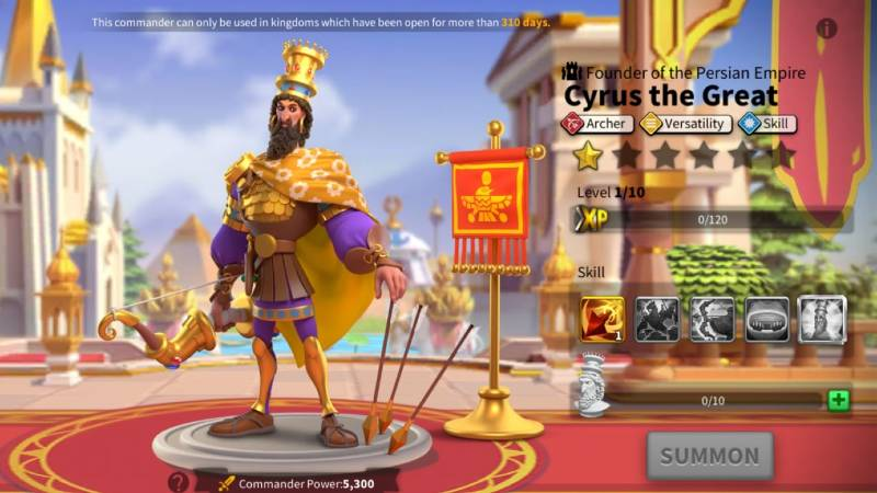 Cyrus II the Great Talent Trees