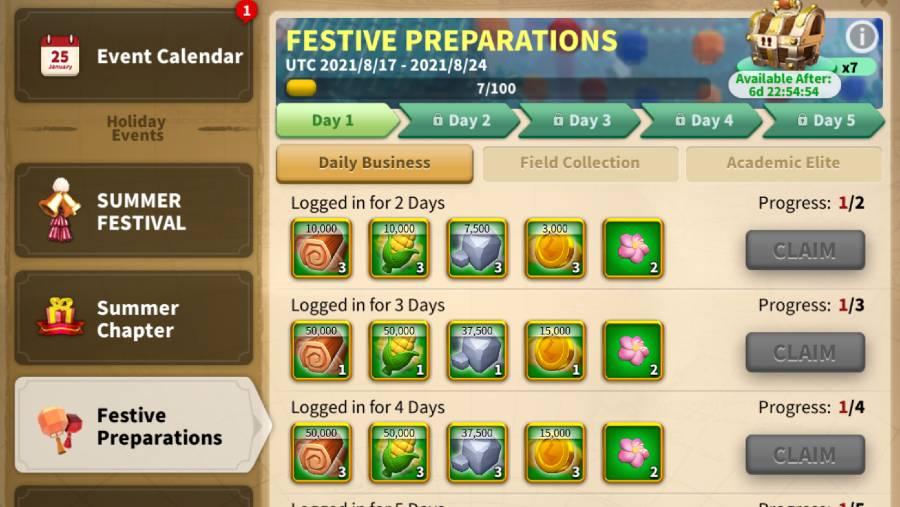 Festive PreparationRise of Kingdoms