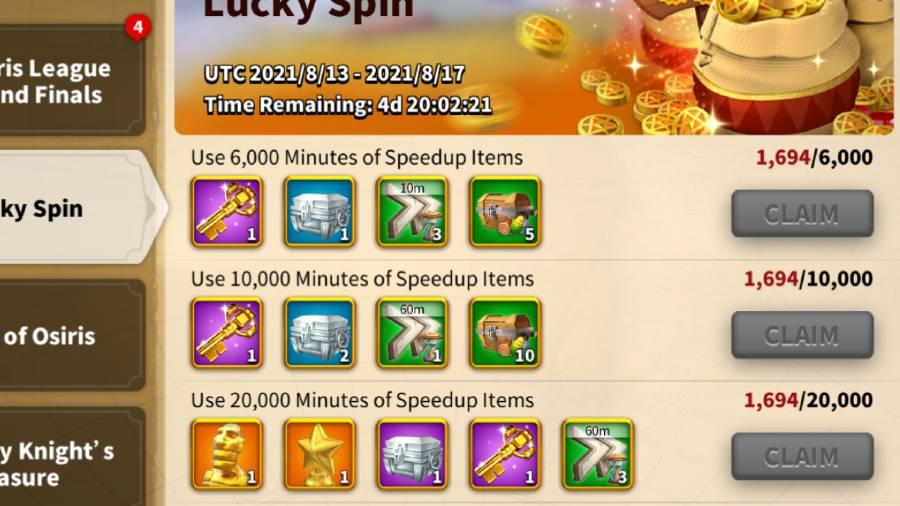 Lucky Spin Rewards 1